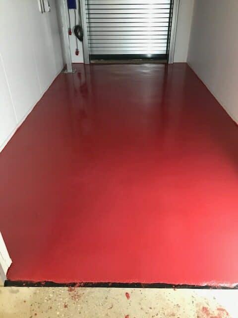 meat facility resin floor