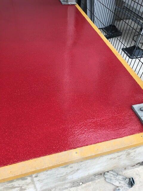 resin flooring at meat facility