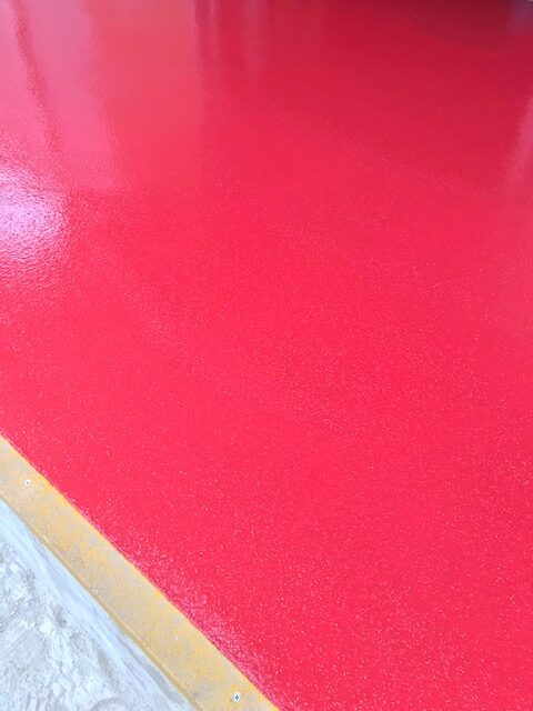 red resin floor